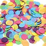 TOYMYTOY Coriandoli di carta per la decorazione di matrimonio Confetti di coriandoli colorati in cerchio di 2.5cm di 10000pcs (100g)