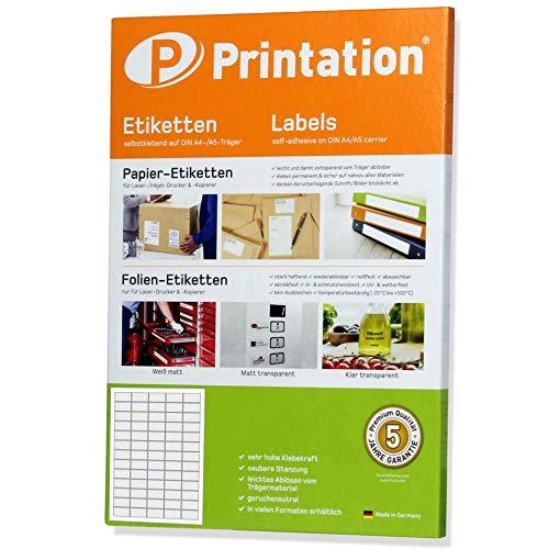 Qualitäts Etiketten - 6500 Stk. 38,1 x 21,2 mm weiß selbstklebend bedruckbar - 100 A4 Bogen à 5x13 Labels - 3666 L7651 4606
