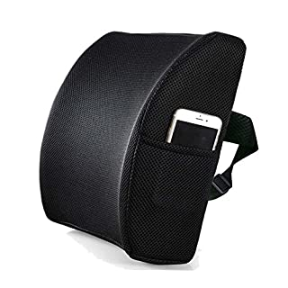 LIVEHITOP Posture Therapy Lumbar Cushion Support Memory Foam, Adjustable Ergonomic Lower Back Pain Relief Pillow for Office Chair, Car Seat, Wheelchair (Only Authorized