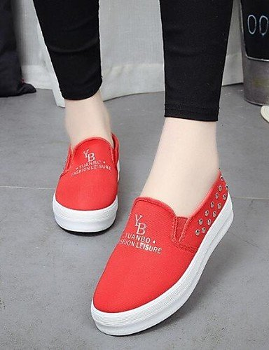 ZQ gyht Scarpe Donna-Mocassini-Tempo libero / Casual-Comoda / Punta arrotondata-Plateau-Di corda-Nero / Blu / Rosso , red-us8.5 / eu39 / uk6.5 / cn40 , red-us8.5 / eu39 / uk6.5 / cn40 black-us6 / eu36 / uk4 / cn36