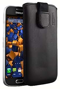 mumbi ECHT Ledertasche für Samsung Galaxy S4 mini Tasche Leder Etui (Lasche mit Rückzugfunktion Ausziehhilfe)