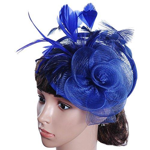 Saingace Clearance Haarschmuck mit Schleier für Kostüm Karneval Fasching oder Burlesque Headwear