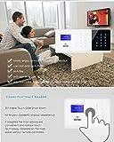ERAY DIY Wireless-Touch-GSM Hause Alarmanlage Kit mit Rauchmelder und wasserdicht solarbetriebene Alarmsirene - 3