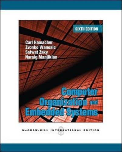 Computer Organization and Embedded Systems (Int\'l Ed)