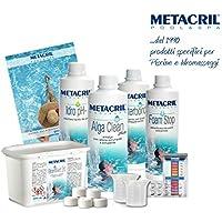 Metacril - Kit Brom Spa con base de bromo para spa, ideal para todos los tipos y marcas de piscinas y bañeras de hidromasaje (Teuco, Jacuzzi, Hafro, Glass, Dimhora, Intex, Bestway, etc.) -