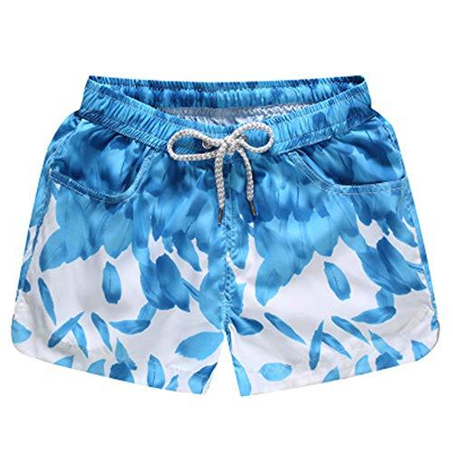 ZHOUXICAN Herren-Boxershorts Herren schnell trocknende Strandhose Sommer Paar Shorts Five Pants E4 3XL