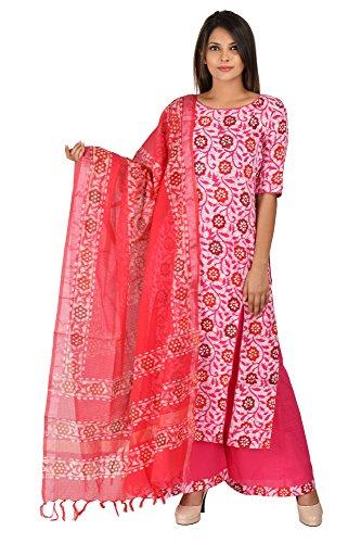 Aaditri Clothing Cotton Batik Design Unstitched Dress Material of Salwar Suit for...