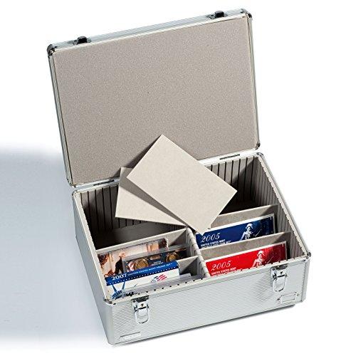Leuchtturm 316530 Sammelkoffer Cargo Multi XL | Aufbewahrungs-Box für Postkarten, Münzsätze oder CD's Format: 400 x 195 x 295 mm (Das Cd-format)