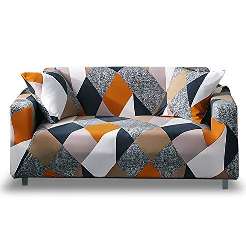 HOTNIU Elastischer Sofa-Überwürfe Antirutsch Stretch Sofaüberzug, Sofahusse, Sofabezug, Sofa Abdeckung Hussen für Sofa, Couch, Sessel in Verschiedene Größe und Farbe (3 Sitzer, Muster #MF)