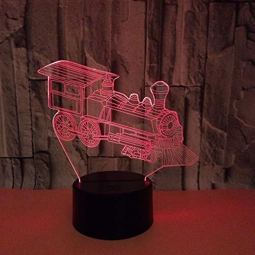 Optische Lampe Tischdekoration Lokomotive3DLicht Bunte Note3D LedVisuelle Licht Geschenk3DKleine Tischlampe