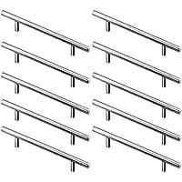 10 Piezas Manijas en Forma de T, Acero Inoxidable T Bar Cocina Gabinete Puertas Manija