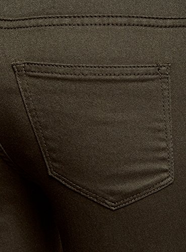 oodji Ultra Damen Jeans Skinny Basic Grün (6900N)
