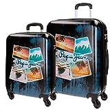 Pepe Jeans Summer Set di valigie, 69 cm, 113 liters, Blu (Azul)