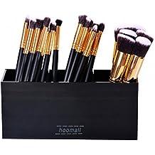 Hoomall Contenitore porta pennelli per cosmetici, in acrilico nero, a