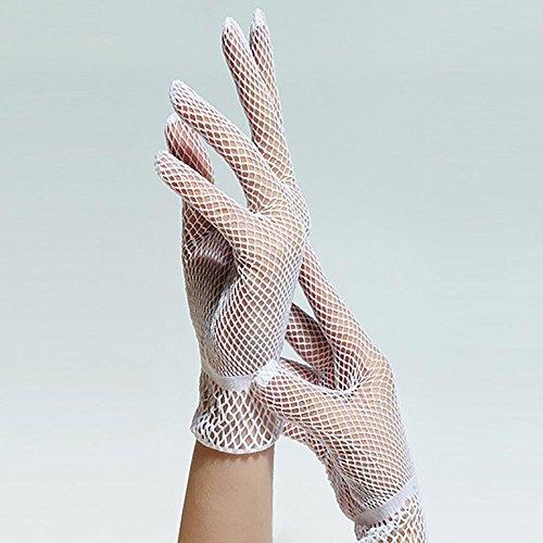 12shage Damen Mädchen Sonnenschutz Handschuhe Fischernetz Handschuhe Etikette Hochzeit Abschlussball -