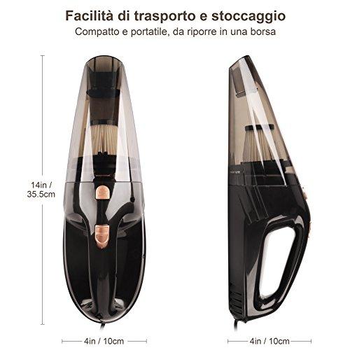 YOHOOLYO-Aspirapolvere-Auto-Portatile-da-Asciutto-e-Bagnato-DC-12V-106W-5M-Cavo