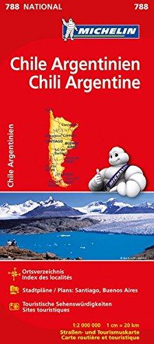 Preisvergleich Produktbild Michelin Chile Argentinien: Straßen- und Tourismuskarte 1:2.000.000 (MICHELIN Nationalkarten)