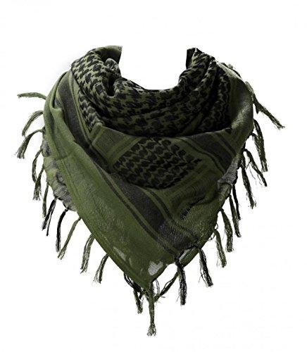 WODISON Armee-Militär Shemagh arabische Wüste Keffiyeh Schal wickeln taktischen Stil für Frauen und Männer (model4)