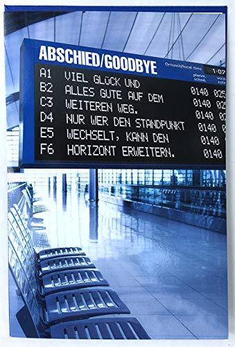 Abschiedskarte Abschied/Goodbye