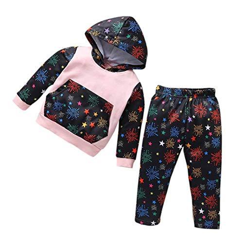 Sweatsuit Jacke Hose (Hongyuangl Baby Jungen Mädchen Trainingsanzüge Druck Langarm Hoodie Tops Sweatsuit Hosen Outfit Set)