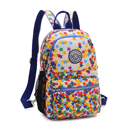TianHengYi Girls Small Water Resistant Nylon Backpack light Sling Chest Bag Rose Stars