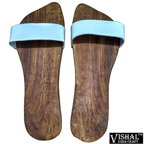 KHADAU, WOODEN SANDAL SHAPE KHADAU FOR HOME OFFICE TEMPLE , CHARAN PADUKA KHADAU FOR TEMPLE POOJA ARTICLE BY VISHAL INDIA MART®  available at amazon for Rs.298