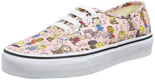 Vans Unisex-Erwachsene Peanuts Authentic Sneaker, Mehrfarbig (Peanuts/Dance Party/Pink), 38 EU (Schuhe Skateboard Vans Sneakers)