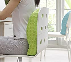 HealthSense Backrest Cushion with Memory Foam (SOFT SPOT - BC 21) - Grass Green