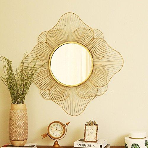 Mirror LUYIASI- Art und Weise kreatives Eisen-Glaswand-Dekoration-hängender Spiegel-Make-upspiegel-Badezimmer-Spiegel-Wand-Spiegel-Eitelkeits-Spiegel (Eitelkeit Spiegel Badezimmer)