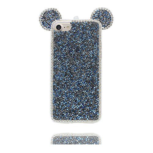 "Hülle iPhone 6 6s Cover 3D Cartoon Maus Ohr, Light Slim Diamonds Bling Bead Transparent iPhone 6 Handyhülle 4.7"", iPhone 6S case 4.7"" Kratzer beständig & Staubstecker Lovely # 1"