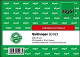 Sigel SD023 Quittungsblock A6 quer