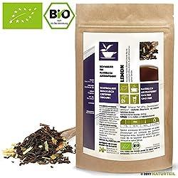 NATÜRLICH TEE - SCHWARZER TEE LEMON BIO / Natürlich Aromatisiert, Naturally Flavored Black Tea Organic - 100G
