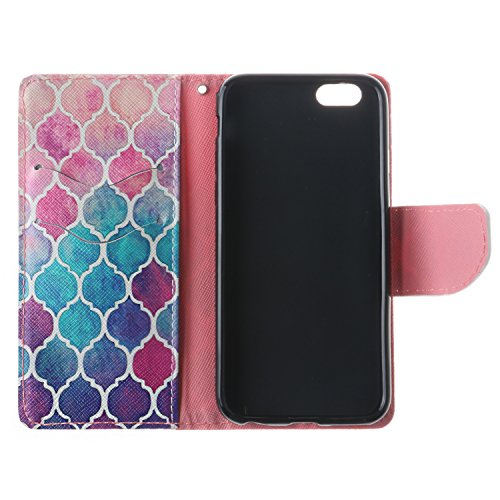 iPhone 6 Plus Custodia, SsHhUu Lusso Stylish MagneticoStand Card Slot PU Leather Flip Protettivo Portafoglio Slim Cover Case + Stylus Pen per Apple iPhone 6 Plus / iPhone 6s Plus 5.5 modello colorato