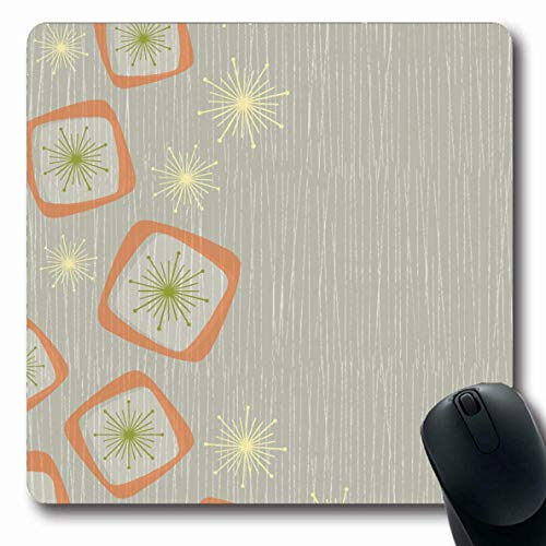 Luancrop Mousepads für Computer Beige Muster Vintage Atomic Stars Boxen Orange Abstract Taupe Bronze Dark Distressed Fasern rutschfeste Oblong Gaming Mouse Pad Taupe-boxen