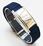 4 in 1 Power Balance Energy® Ion Band, Germanium, Silicone,Charged With Negative Ions, The Ionic Wristband And Stylish Therapy Bracelet, Ideal Gift For Men And Women (NAVY)