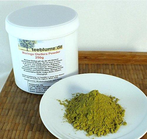 Moringa Oleifera, seco Hoja finamente en Polvo, 250g, puro