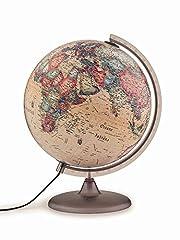 Idea Regalo - Tecnodidattica - Mappamondo Atmosphere A2, luminoso, girevole, cartografia Stile Antico e meridiano graduato, diametro 30 cm
