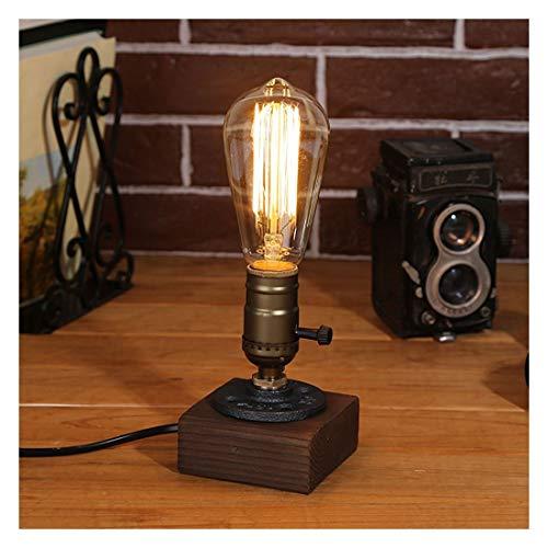 Tischlampe Retro Vintage - Giraffe Alte Retro Stil Tischlampen Holz Vintage Tischleuchte Kupfer Industrie Edison E27 Metall(Glühbirne nicht enthalten) (Alten Stil-lampe)