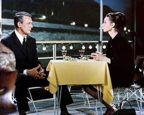 Nostalgia Store Audrey Hepburn Cary Grant Charade Dining Together, 35,6 x 27,9 cm