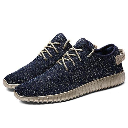 Hommes Chaussures de loisirs Respirant Lumière Appartement Accueil Chaussures décontractées Chaussures plates Blue