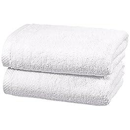 AmazonBasics – Set di asciugamani ad asciugatura rapida, 2 pezzi, 2 asciugamani – Bianco