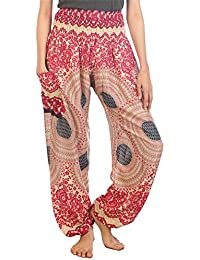 Lofbaz Mujer Harem Hippy Pantaloni Cintura Elástica bonzaai Pantalones 0d2dedabf9c7