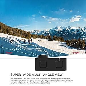 APEMAN Trawo Cámara Deportiva 4k WiFi Ultra HD 20MP Subacuática Impermeable 40M Videocámara con 170°Gran Angular EIS Sony Sensor Estabilización Doble Baterías 1350mAh