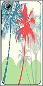 Snoogg Hawaii Designer Protective Back Case Cover For HTC Desire 626