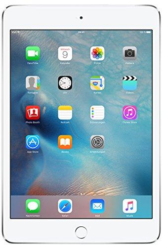 Apple iPadmini4 (9,7 Zoll, Wi-Fi+Cellular, 128 GB) - Silber (Wifi 4g Mini Ipad)