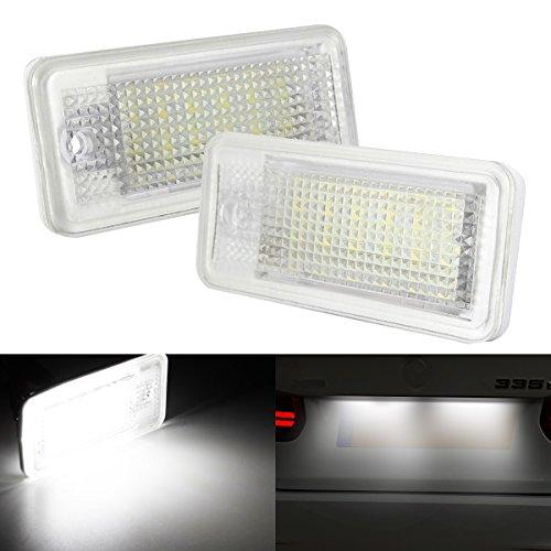 AMBOTHER-2x-LED-Kennzeichenbeleuchtung-Nummernschildbeleuchtung-Kennzeichen-Licht-fr-Audi-A3-8P-A6-4F-Q7