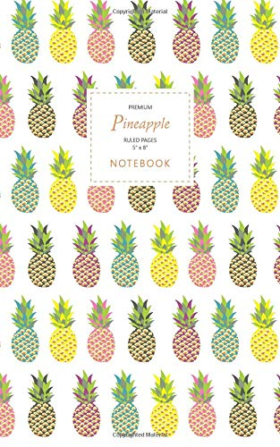 Pineapple Notebook - Ruled Pages - 5x8 - Premium: Fun notebook 96 ruledlined pages (5x8 inches  12.7x20.3cm  Junior Legal Pad  Nearly A5)