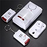 Motion Sensor d'alarme sans fil Détecteur infrarouge IR 2 Télécommande