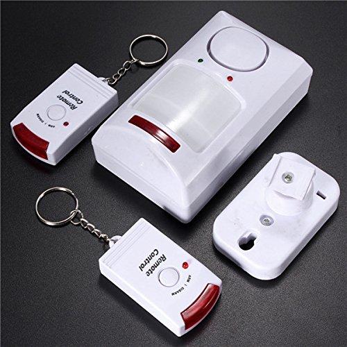 Wireless Motion Sensor Alarm IR-Infrarot-Detektor 2 Fernbedienung (Wohnwagen Für Dummies)