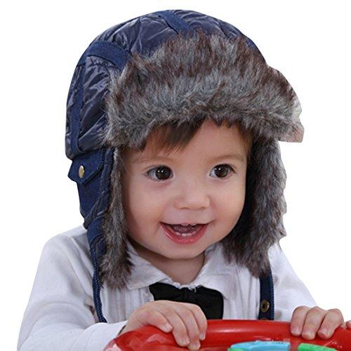 Happy Cherry Baby Mütze Kindermütze Winter Wärmehaltung Wintermützen coole Mütze für Baby Kinder Junge Mädchen Schnee Hut Gr.45-51cm für 6Monate-3Jahre